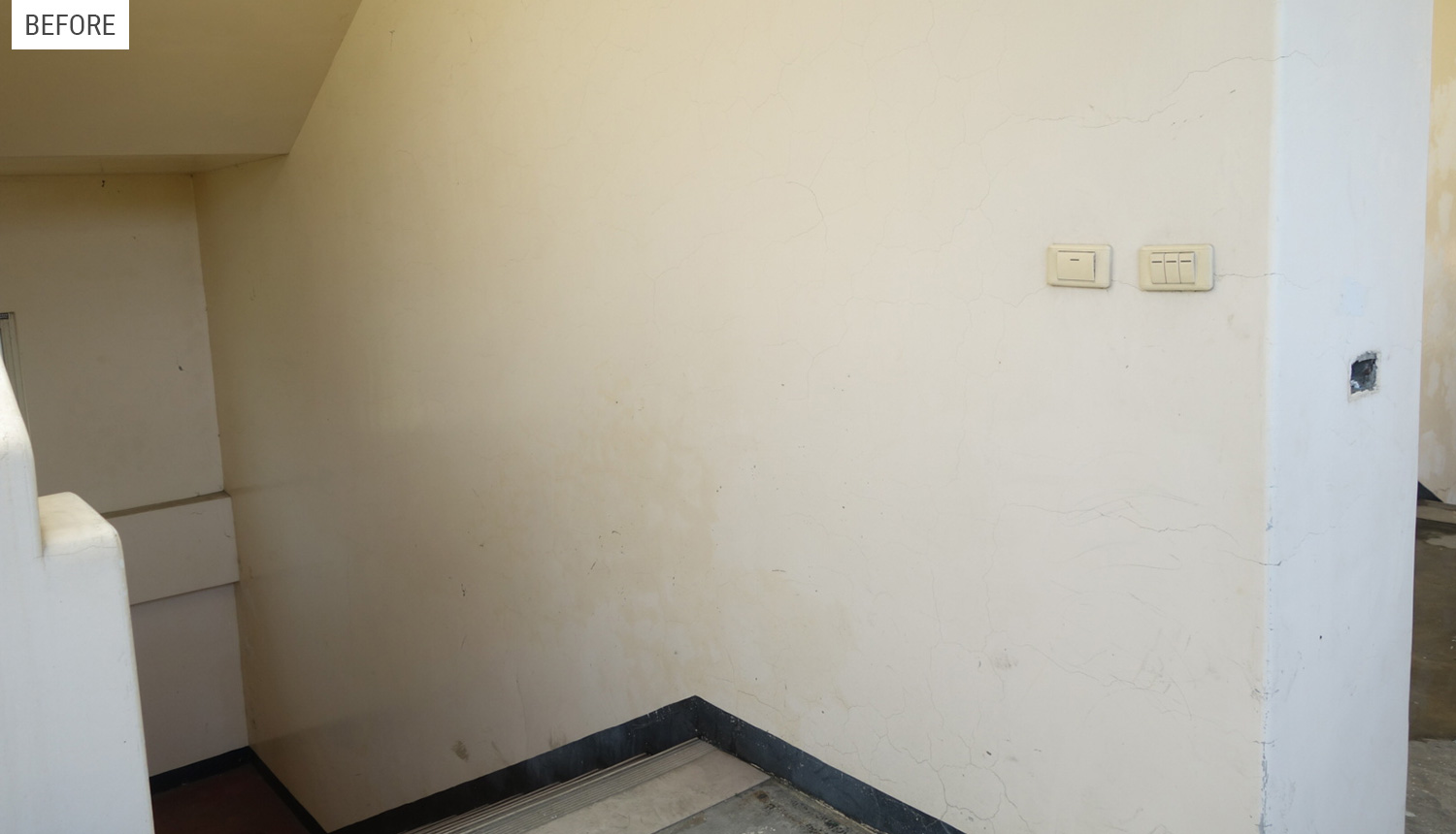 Second Floor Wall (before)