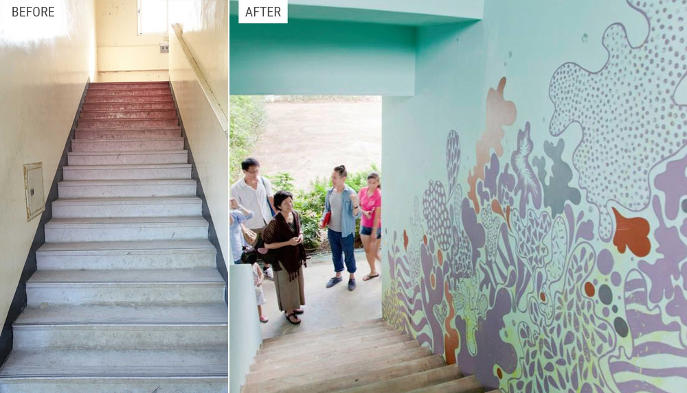 Staircase Mural for Charity