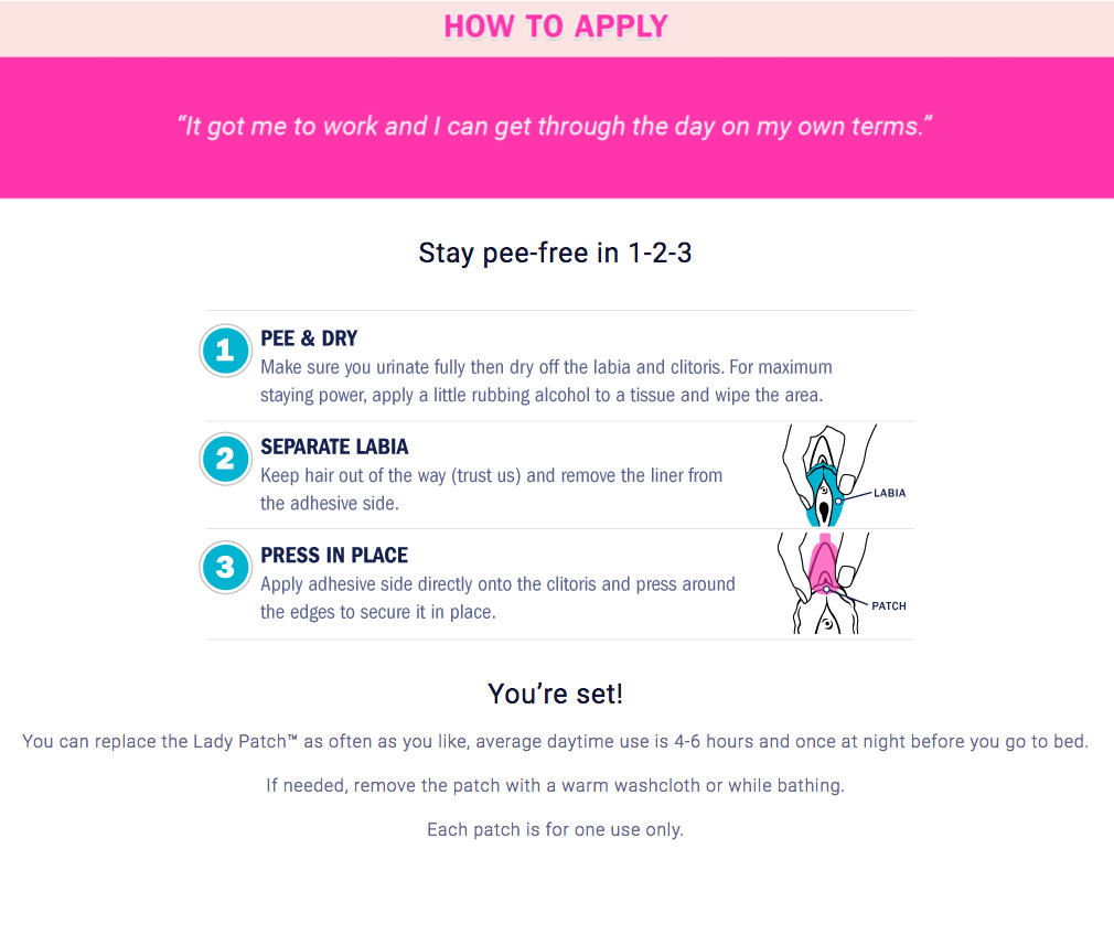 Lady Patch Website How To Apply