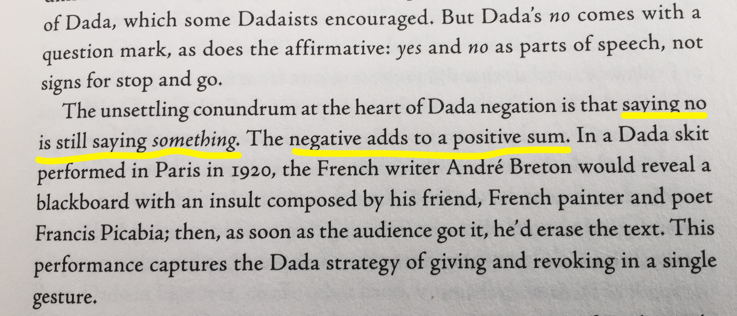 Included in the introduction (p. xi) to Jed Rasula's Destruction Was My Beatrice.