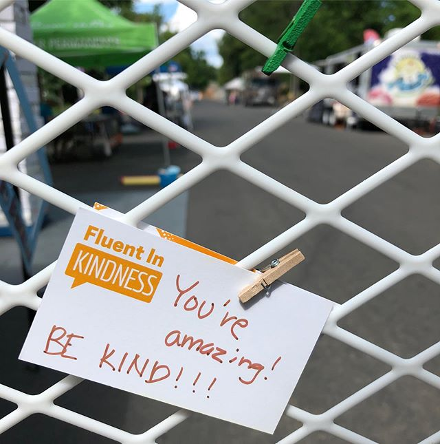 Our #fluentinkindness board at the beginning of #openstreetsfc