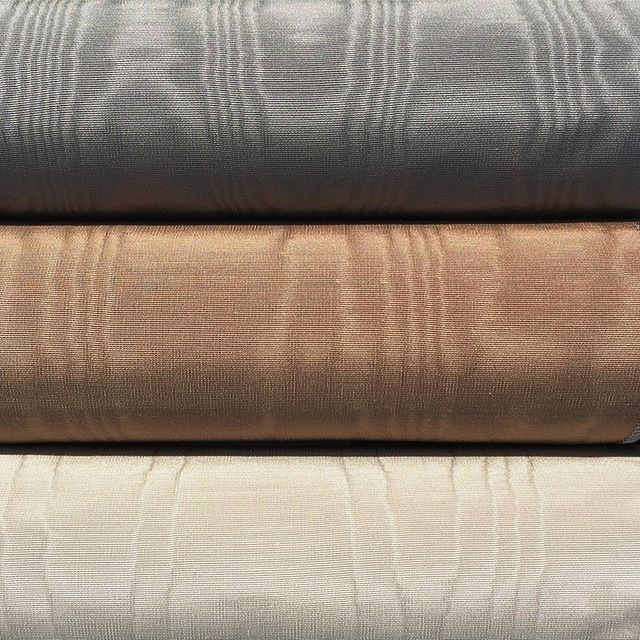 On the heels of a cameo in @TheWorldofInteriors Ottoman Moiré has three new colors.  Its's a Neutral Party.  #InterferencePattern #NeutralParty #BodennerCollection