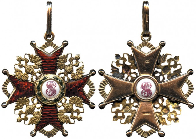 A Breast Badge of the Order of St. Stanislas, Third Class, by Eduard, ca. 1880.