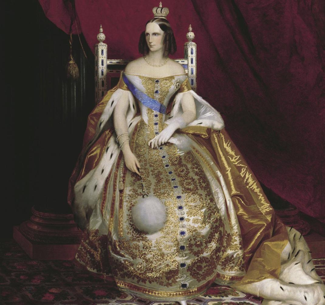 Empress Alexandra Feodorovna, wife of NIcholas I in Full Court Dress, by Karl Timoleon Neff