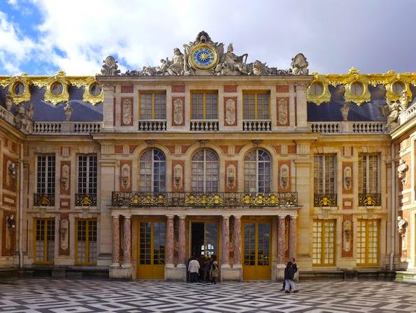 The cour d'honneur, versailles.