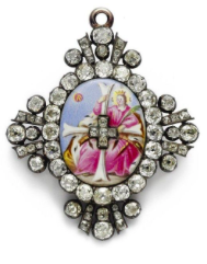 THE FRONT OF THE BADGE OF THE ORDER OF ST CATHERINE, GRAND CROSS
