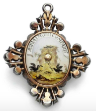 THE VERSO OF THE BADGE OF THE ORDER OF ST CATHERINE, GRAND CROSS