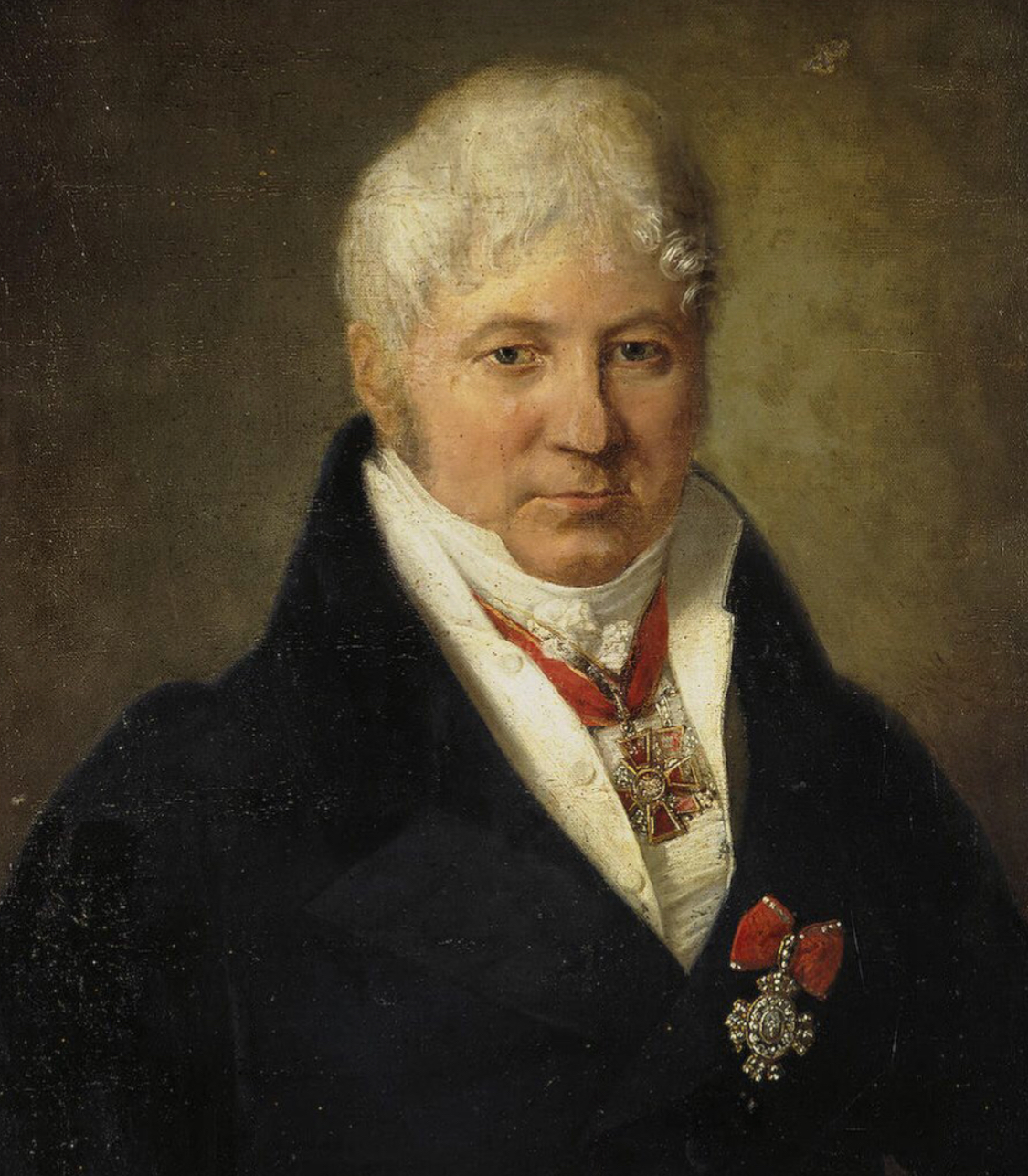 Unknown artist, Portrait of I.I. Volkov with the Badge of the Order of St Catherine, ca. 1835, collection of the state hermitage museum, St. Petersbrug