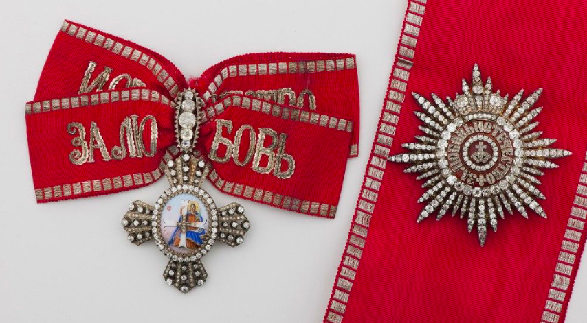 A set of the Order of St. Catherine the Great Martyr from the norwegian Royal collections.