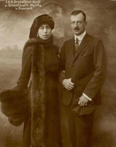 Grand Duke and Grand Duchess Kyrill of Russia, ca. 1910