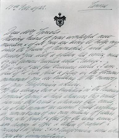 The Original letter from Victoria Melita, San Francisco