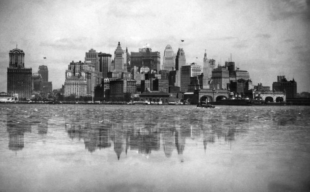 View of New York Harbor, 1920's, Underwood Archives.