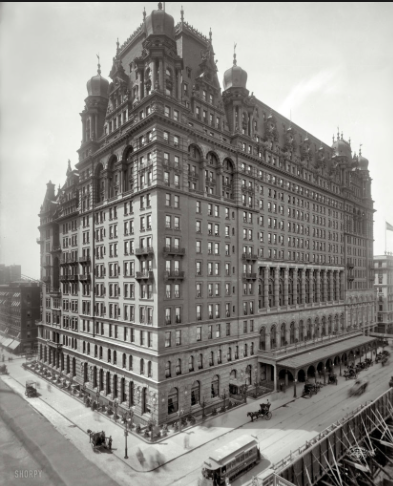 The old waldorf=Astoria Hotel