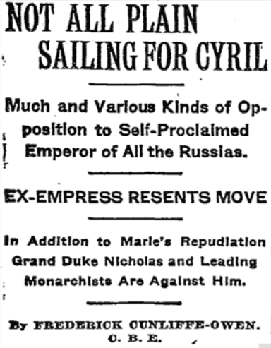 """Not All Plain Sailing"". New York Times, November 2, 1924"
