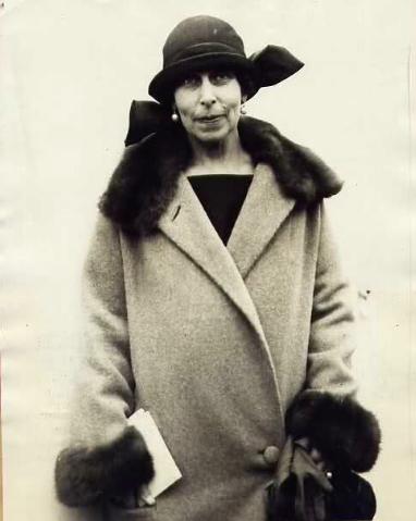 Grand Duchess Kirill on her arrival in New York, 1924.