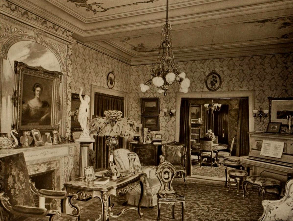 "The Sitting Room of the ""ROyal Suite"" at the Old Waldorf-Astoria Hotel on Fifth Avenue and 34th Street."
