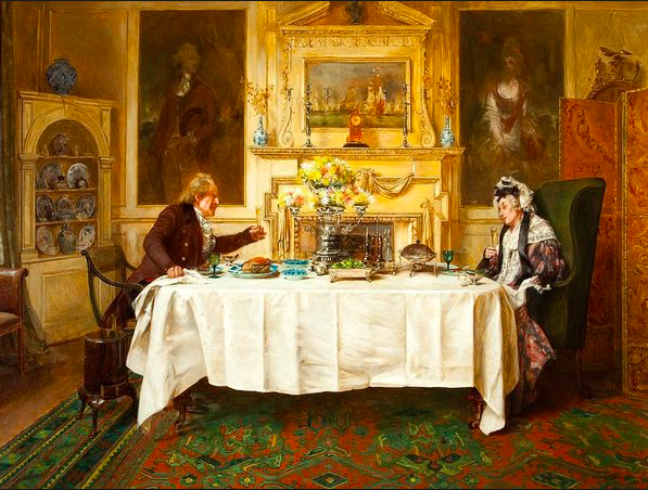 'Darby and Joan' by Walter Dendy Sadler (1854-1923), painted about 1889 from the Sudley House Collection, Liverpool, UK.