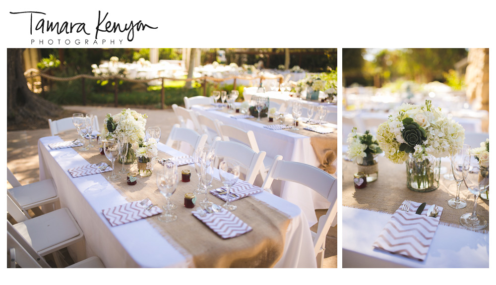 Floral_Centerpiece_Wedding_Chevron_Napkins