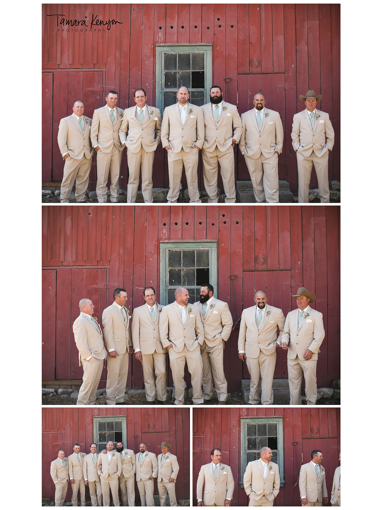 large_bridal_party_groomsmen_country_wedding