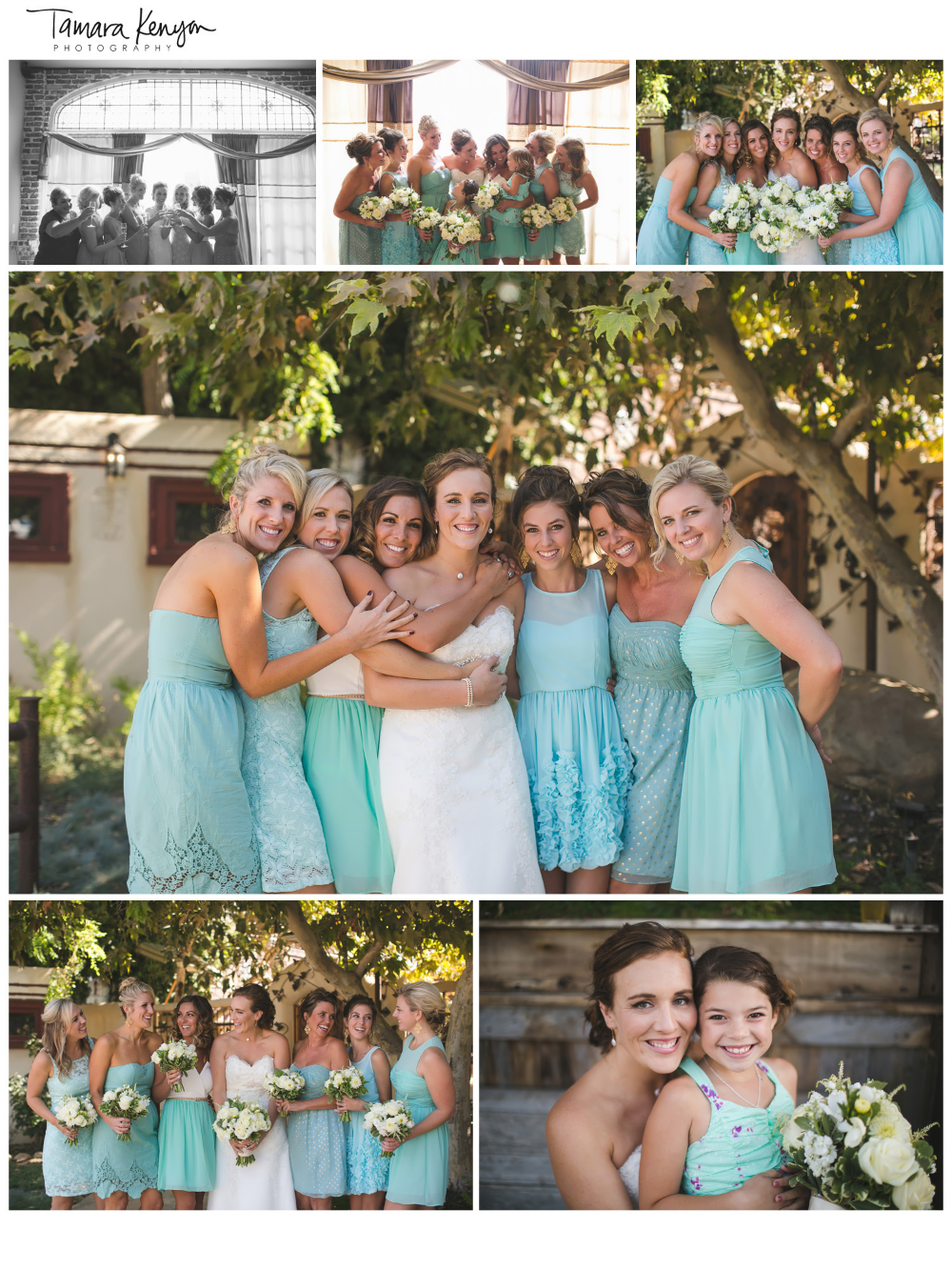 Large_bridal_party_bridesmaids_teal_vintage_idaho_wedding