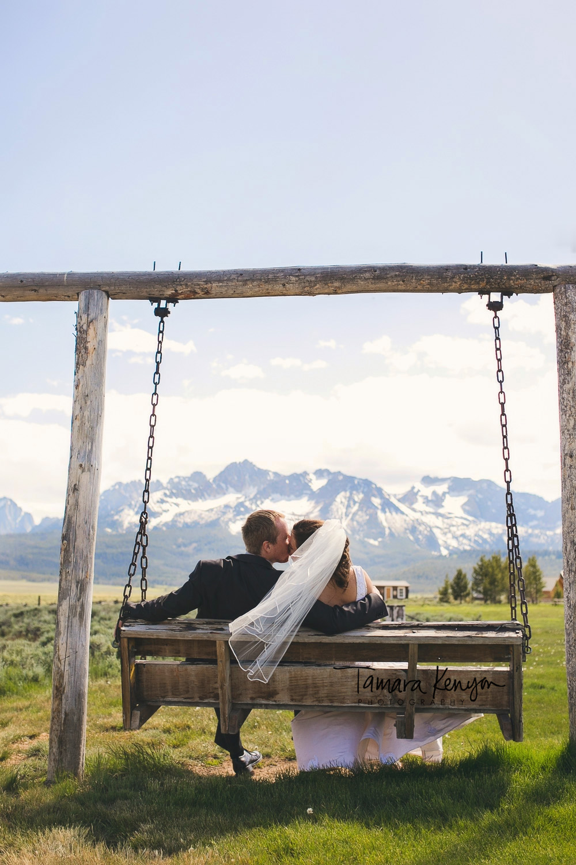 sawtooth mountain wedding