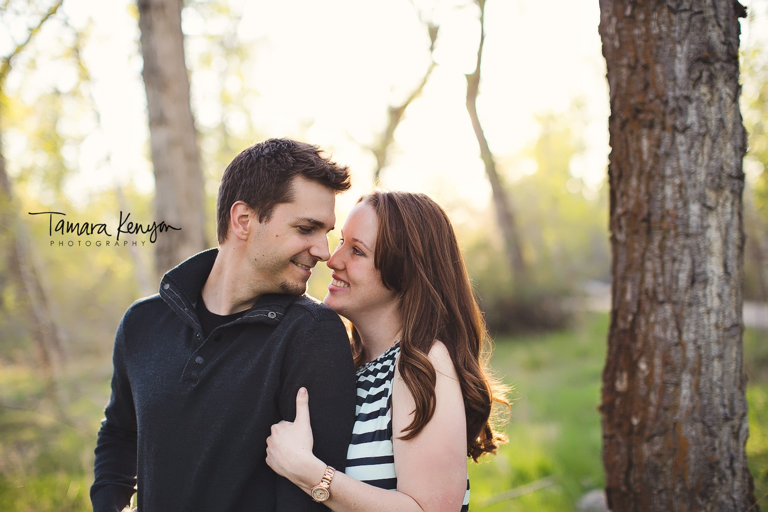 engagement photos in spring in boise