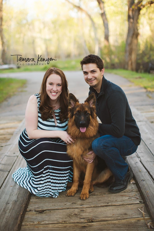 family photos with german shepherd