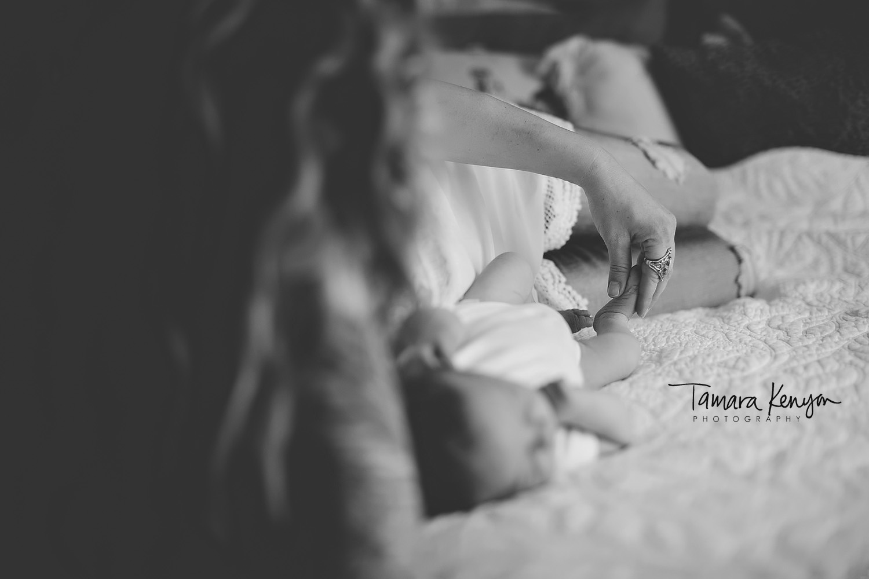 black and white newborn photos