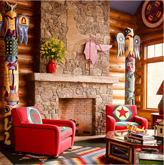 Totems painted by Osmundo Studio for Diamond & Baratta