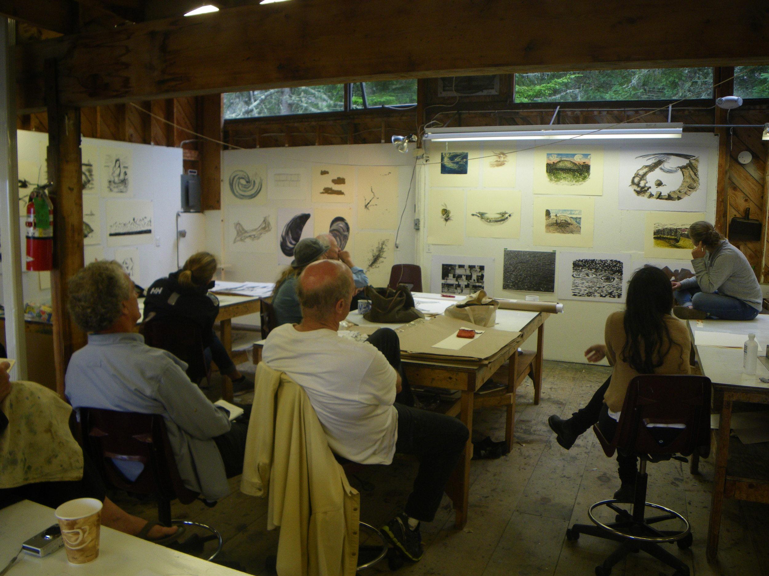 2014 Century Plate Workshop at Haystack Mountain School of Crafts. Deer Isle, ME.