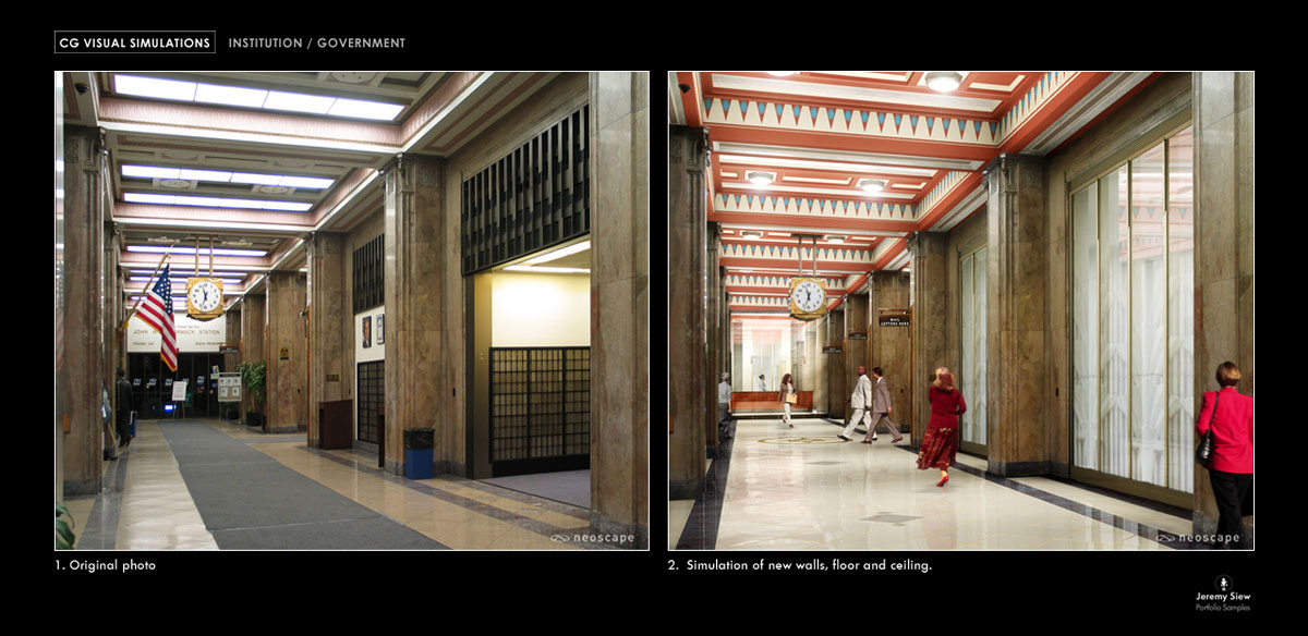 Goody Clancy Interior Renovation Matte Painting