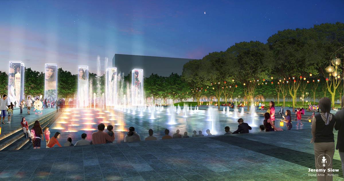 Zhuji Plaza Sunken Fountains