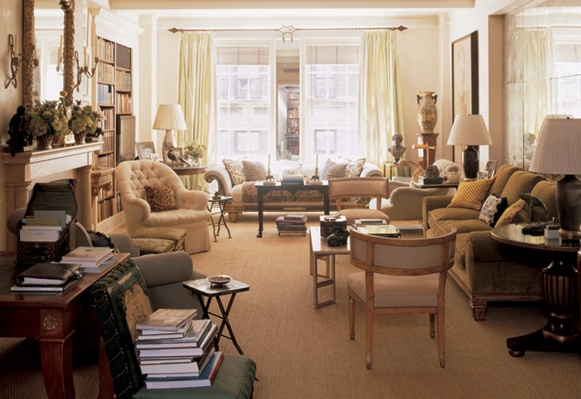 Bunny Williams'apartment - full of pieces with good proportions.