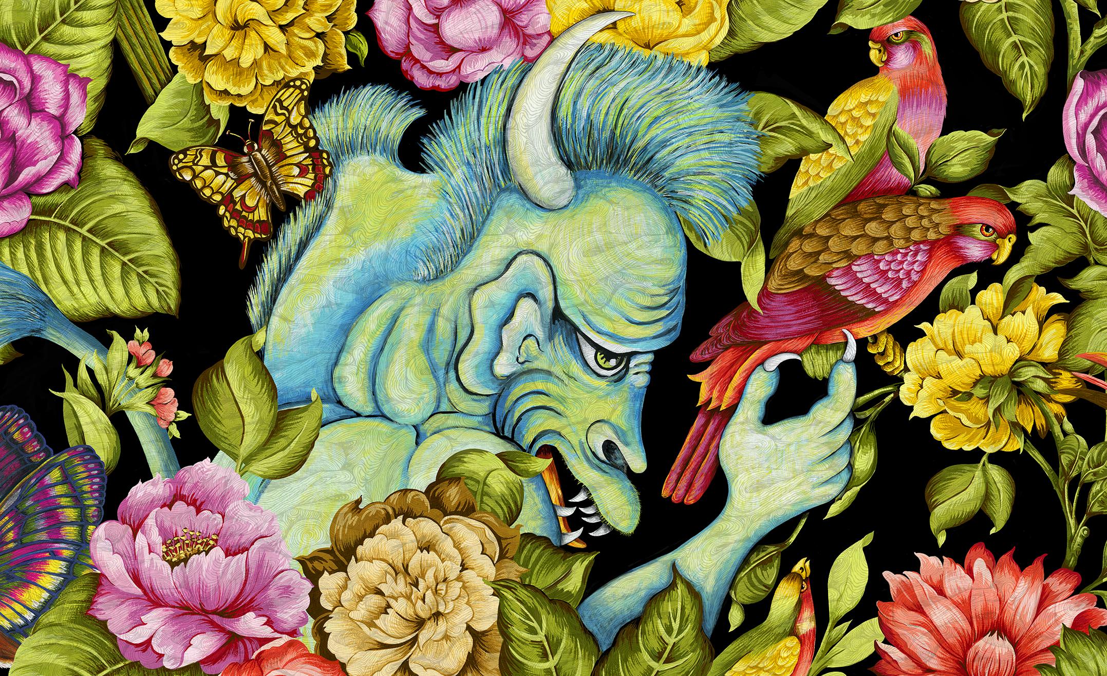 detail: Blue Monster /Hunterdon Art Museum