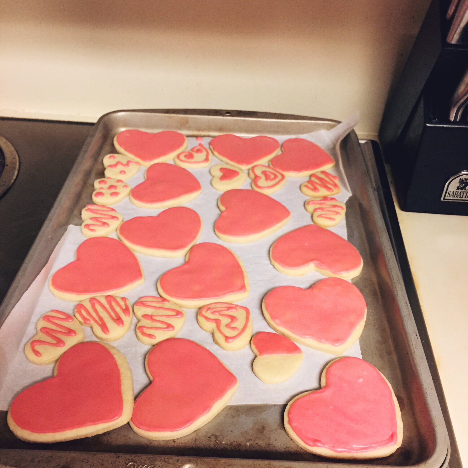 Homemade cookies and frosting to go in the...