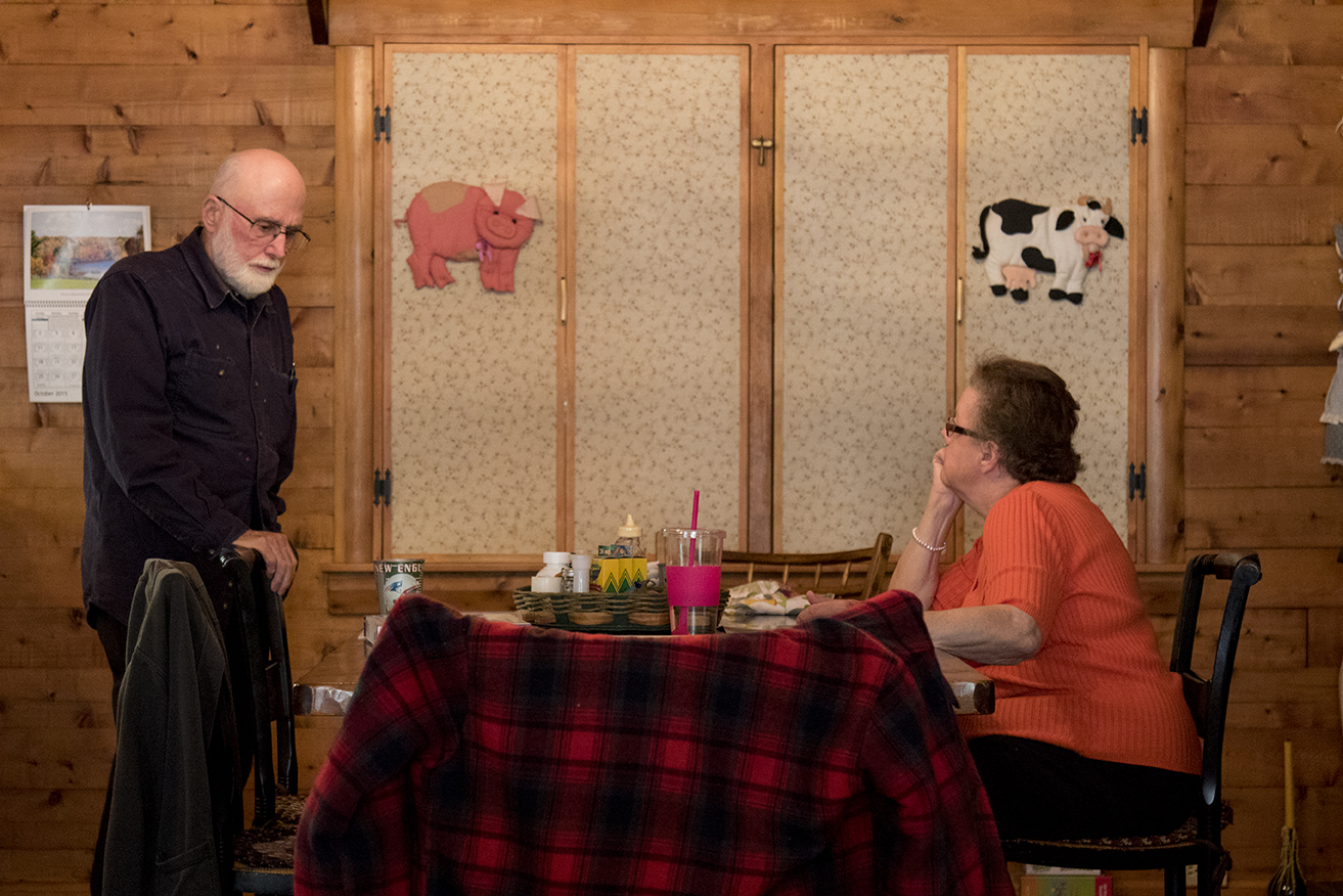 George and Ann chat after having lunch in their home in Mansfield, Connecticut. (Jackson Mitchell)