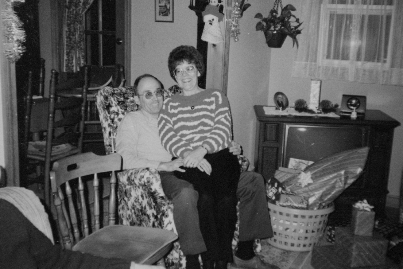 George and his wife Ann are seen during the holiday season sometime in the 1980s. (Archive)