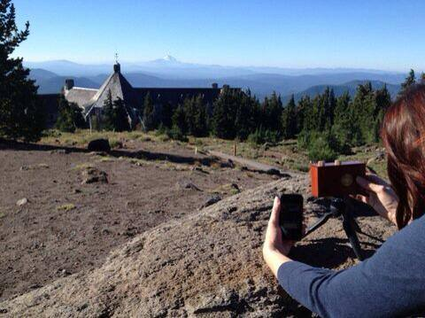 Me and my Zero 2000 at Timberline Lodge on Mt. Hood. Photo by  Michelle Plumb.