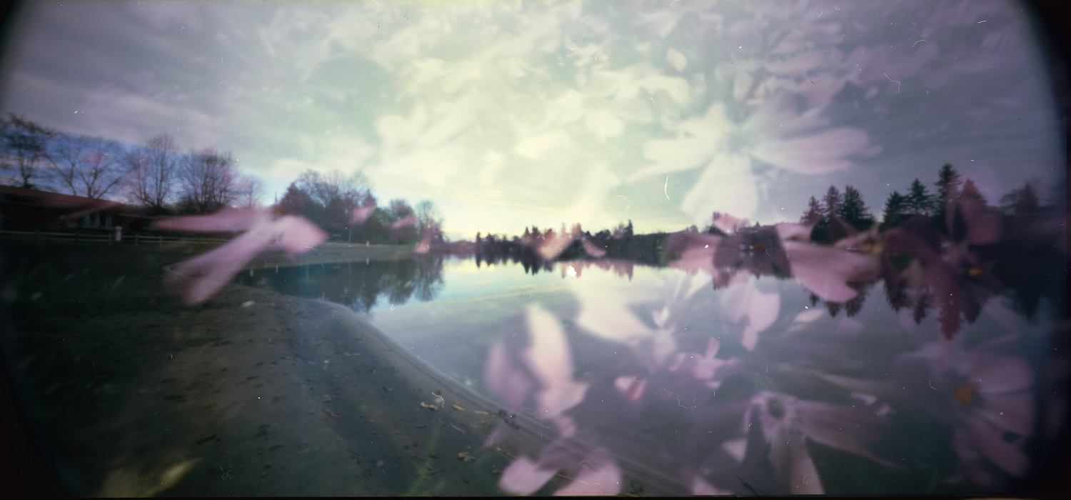 I did a pinhole film swap with my buddy Square Peg Pinhole. We used Portra 160 and a Holga WPC on the 6x12 mask. I shot my side in Portland and sent it over to Nashville where Herschel shot his side.