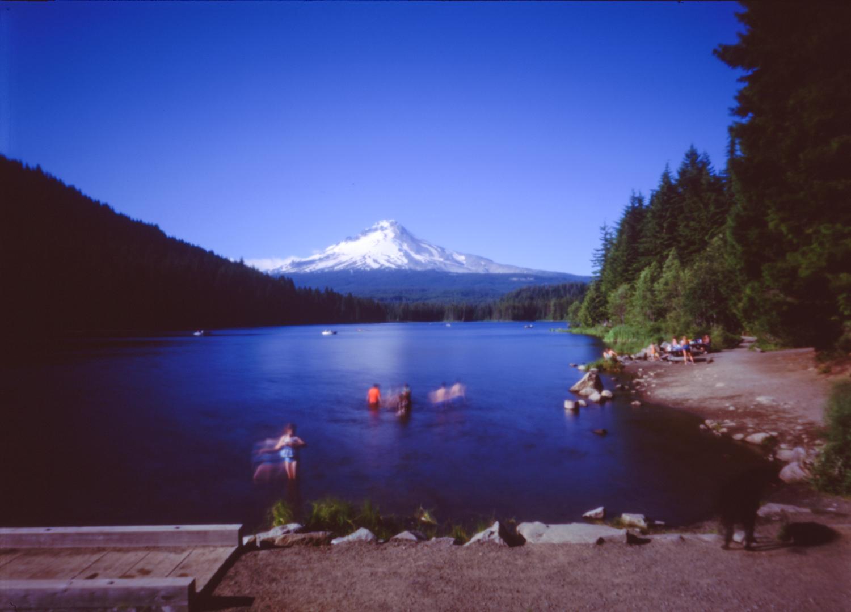 Swimmers at Trillium Lake