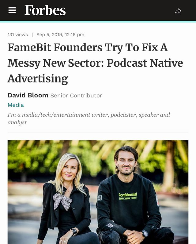 A big thank you to @davidinla for this incredible @Forbes piece on Podcorn! #Podcorn #Podcasts