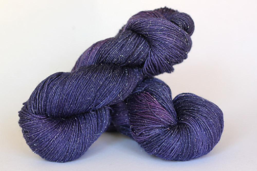 Cosmic Blue Label Fingering Weight in  Grape .