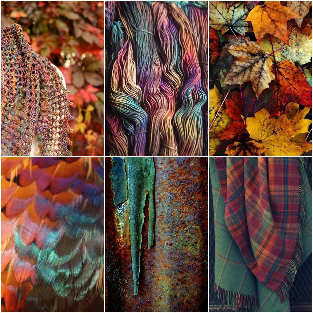 My Glitz at the Ritz shawl ,  beautiful Tartan , leaves , feather , rusty door , plaid .