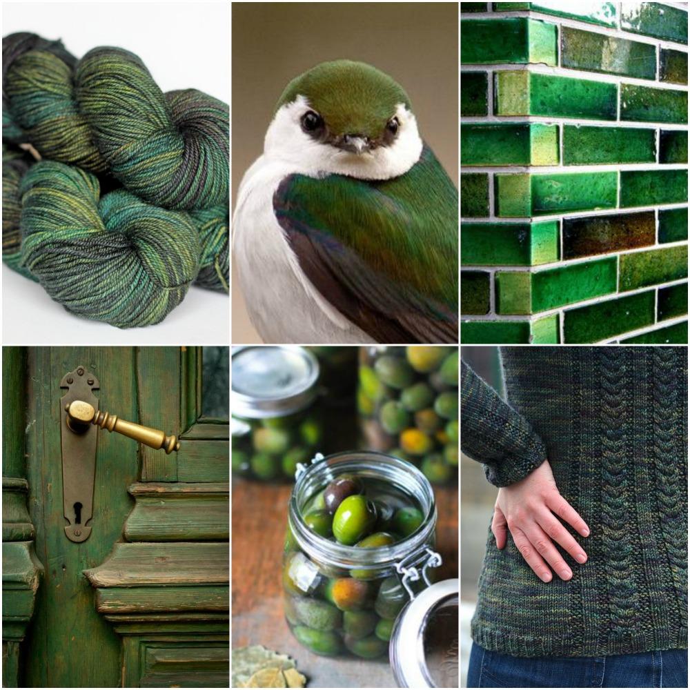 TFA Amber Label in  Olive , bird , bricks , door , olives , Glenna's Northside Pullover .