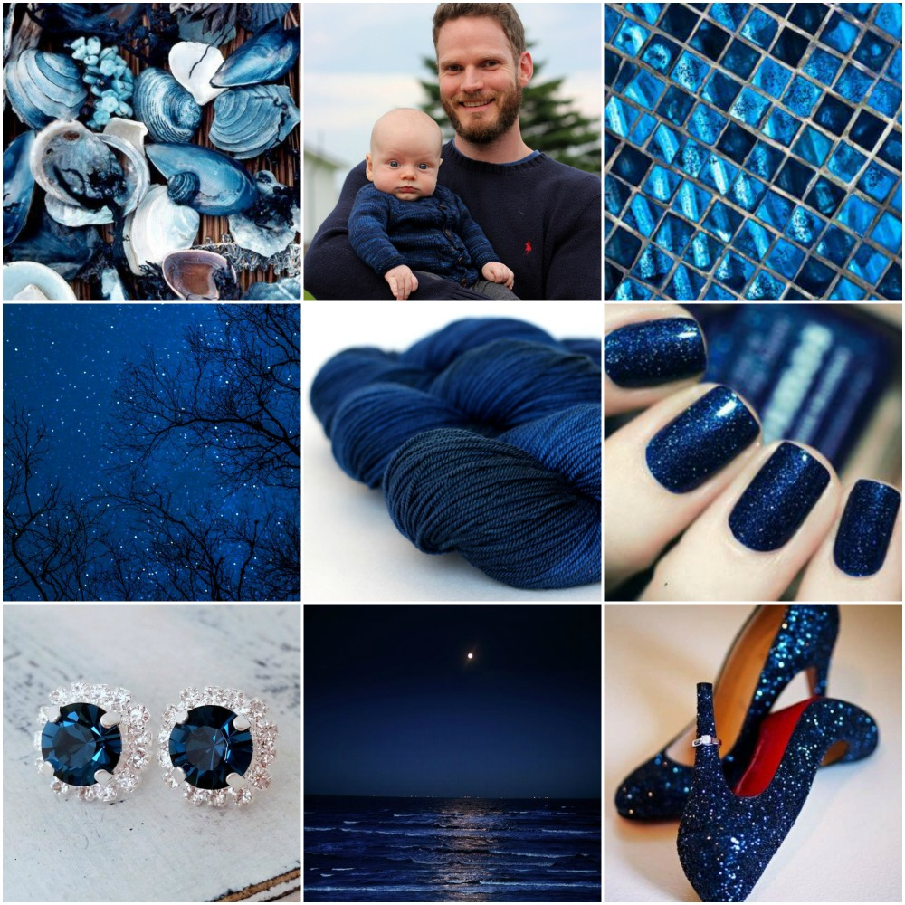 shells , Rowan and Chris , mosaic tiles , sky , TFA Yellow Label DK Weight in Midnight , nails , earrings , beach , shoes ,