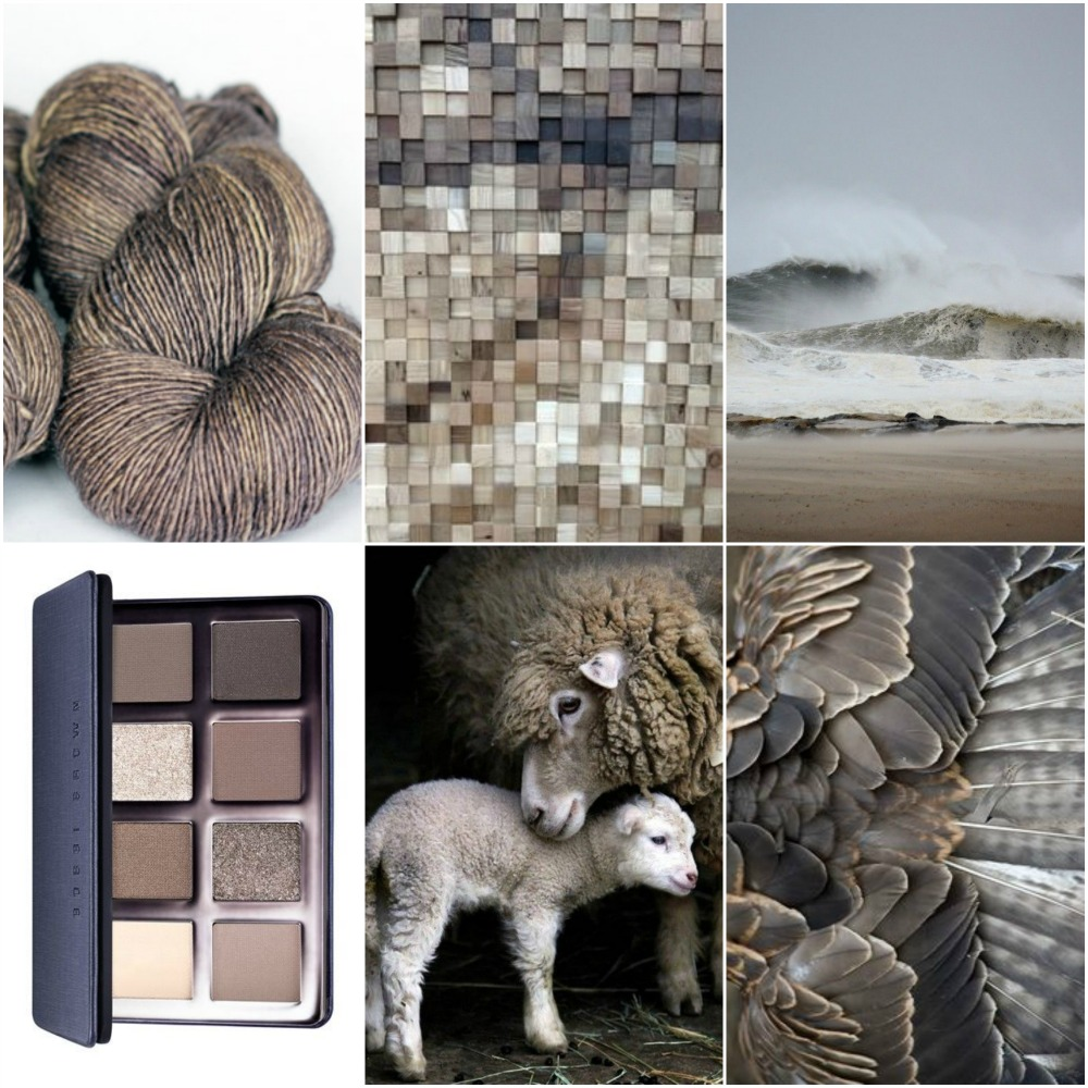 TFA Red Label Cashmere/Silk Singles in Stone , wood , beach , eye shadow palette , sheep , feathers .