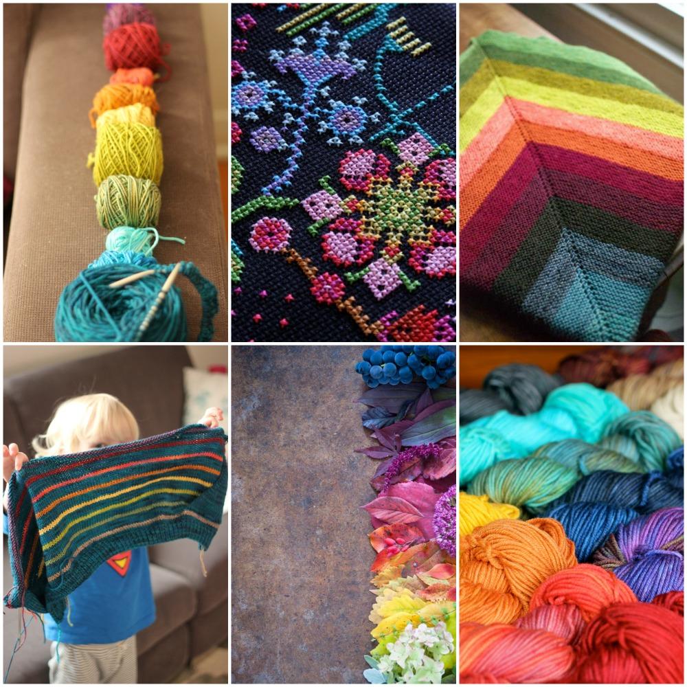 source: TFA, needlepoint , garter blanket , TFA, leaves , TFA.