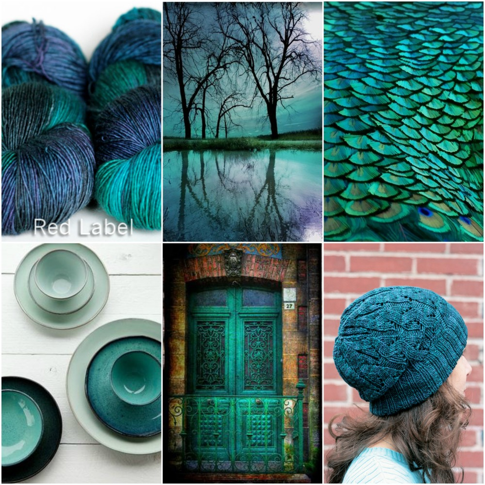 TFA Red Label in  Teal ,  trees ,  feathers ,  cups ,  door ,  Windward hat  pattern.