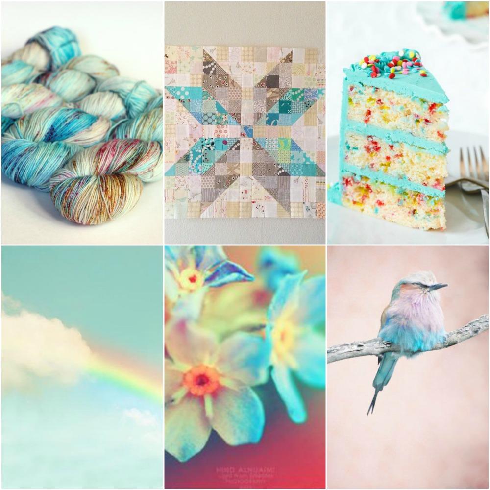 Blue Label in  Hummingbird , star quilt , funfetti cake , rainbow , forget me not's , bird .