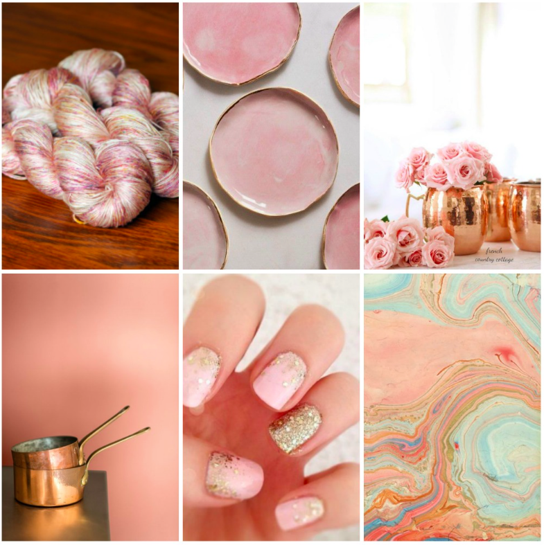 TFA Silver Label Mulberry Silk in  Bisou , dishes , roses , copper pots , manicure , marbled paper .